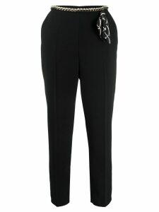 Elisabetta Franchi slim-fit trousers - Black