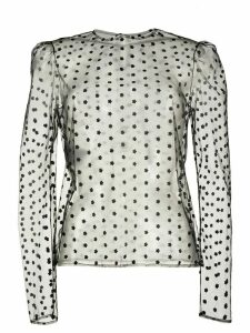 Philosophy Di Lorenzo Serafini embroidered mesh top - Black