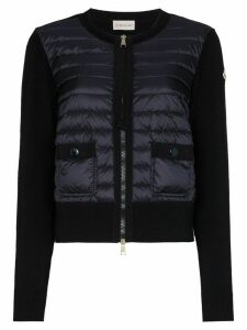 Moncler padded wool cardigan - Blue