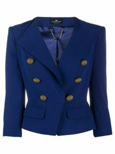 Elisabetta Franchi fitted jacket - Blue