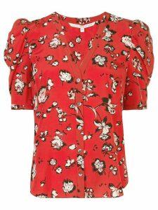 Veronica Beard floral print silk shirt - Red