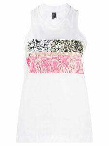 adidas X Stella McCartney snakeskin-print vest - White