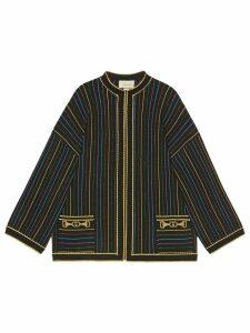 Gucci glitter lamé striped jacket - Black