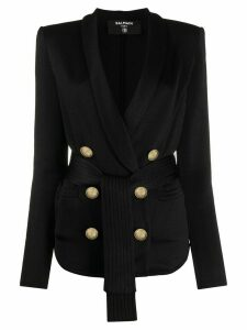 Balmain double-breasted belted blazer - Black
