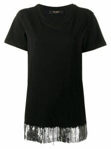 Twin-Set embroidered hem T-shirt - Black