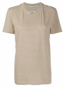 Mm6 Maison Margiela striped T-shirt - NEUTRALS