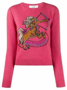 Alberta Ferretti Sagittarius intarsia knit jumper - PINK
