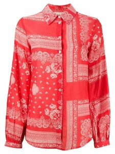 Semicouture paisley long-sleeve shirt - Red