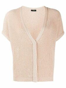 Peserico embellished knit cardigan - PINK