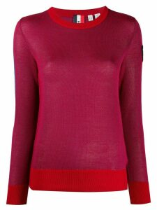 Rossignol knitted two tone jumper - Red