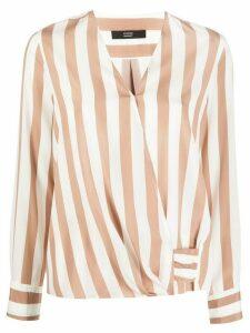 Steffen Schraut striped silk blouse - NEUTRALS