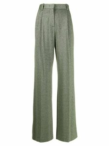 M Missoni metallic high waisted trousers - Green