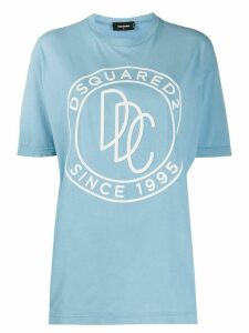 Dsquared2 logo-embossed T-shirt - Blue
