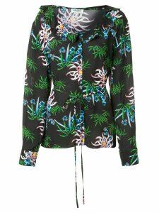 Kenzo Sea Lily-print shirt - Black