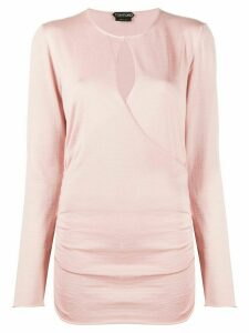 Tom Ford wrap style knitted top - PINK