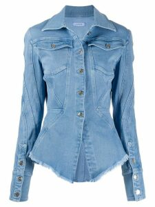 Mugler fitted denim shirt - Blue