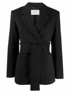 Dorothee Schumacher wrap style belted blazer jacket - Blue