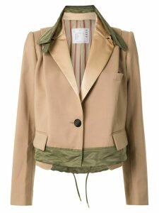 Sacai A-line jacket - Brown
