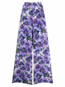 Dolce & Gabbana floral-print palazzo pants - PURPLE
