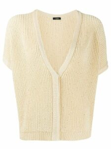 Peserico embellished shortsleeved cardigan - Yellow