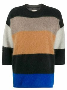 Zadig & Voltaire Fashion Show Reggy Stripes cashmere jumper - Black