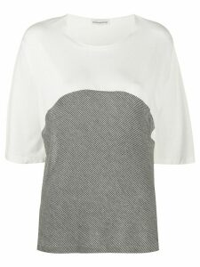 Stefano Mortari two-tone crew neck T-shirt - White