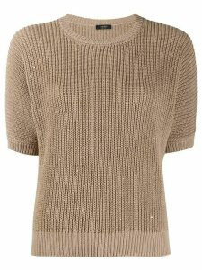 Peserico embellished knit jumper - NEUTRALS