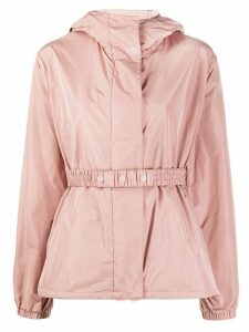 Moncler elasticated waist hooded jacket - PINK