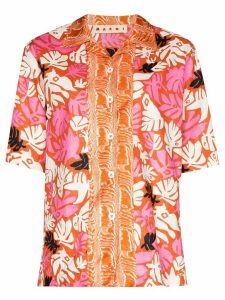 Marni floral print shirt - ORANGE