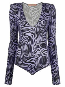 Andamane zebra print body - PURPLE