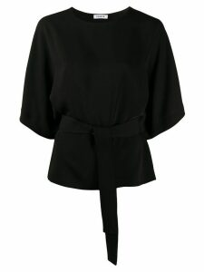 P.A.R.O.S.H. belted plain blouse - Black