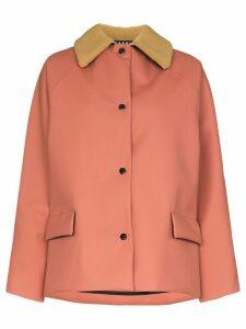Kassl Editions shearling collar padded jacket - PINK