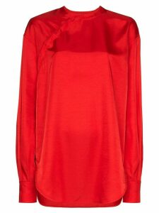 SAMUEL GUÌ YANG wrap front blouse - Red