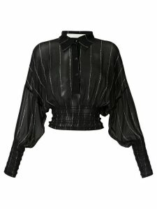 Dion Lee Shirred Stripe GGT blouse - Black