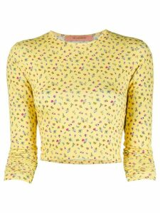 Andamane cropped floral T-shirt - Yellow