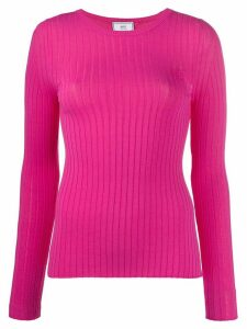 Ami Paris crew-neck knitted shirt - PINK