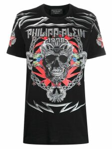 Philipp Plein Psychosocial embellished T-shirt - Black