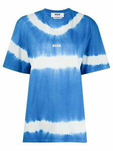 MSGM tie-dye box-cut T-shirt - Blue