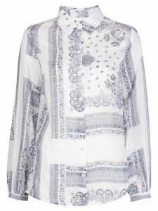 Semicouture paisley-print shirt - White