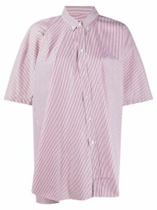 Y/Project striped oversized-fit shirt - Red