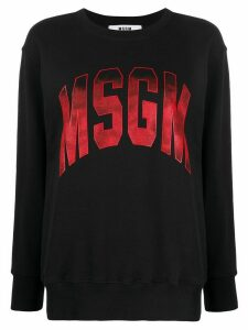 MSGM ombré-logo loose-fit sweatshirt - Black