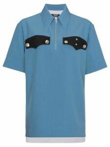 Calvin Klein 205W39nyc contrast pocket detail zip shirt - Blue