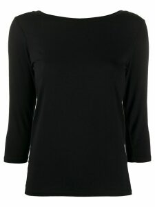 Majestic Filatures three-quarter sleeves T-shirt - Black