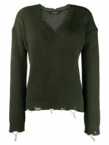 Dsquared2 distressed logo-print sweater - Green