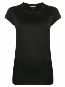 Tom Ford crew neck sheer T-shirt - Black