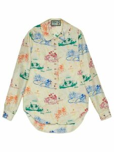 Gucci x Disney Mickey and Minnie print shirt - White