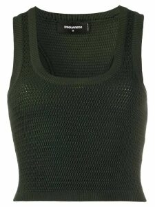 Dsquared2 cropped knitted tank top - Green