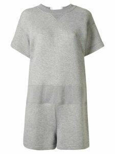 Sacai sweatshirt romper - Grey