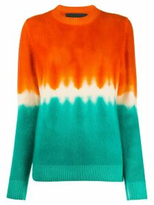 The Elder Statesman cashmere colour-block jumper - ORANGE