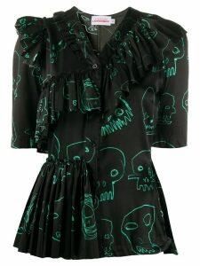Charles Jeffrey Loverboy layered frill shirt - Black